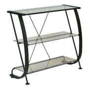 "Pro-Line II Horizon 3 Shelf Bookcase Black & Clear 32""H x 36""W x 14""D"