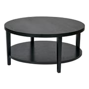 Ave Six Wood Round Coffee Table, Black