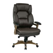 Work Smart Managers Metal & Plastic Executive Chair, Cocoa & Espresso
