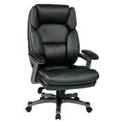 Work Smart Eco Metal, Plastic & Polyester Executive Chair, Titanium & Black