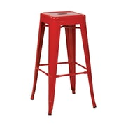 Work Smart Backless 30-Inch Steel Barstool, Red, 2 pk
