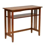OSP Designs Wood Foyer Table, Ash (SRA07-AH)
