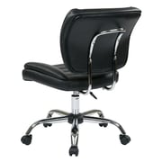 Work Smart Armless Metal Task Chair, Black