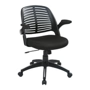 Ave Six Tyler Polyester Office Chair, Black