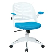 Ave Six Tyler Metal & Plastic Office Chair, Blue