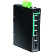 TRENDnet® 5-Port Industrial Gigabit PoE+ DIN-Rail Switch