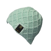 BE Headwear LN0013 Luvspun Bluetooth Beanies with BELink System, Sea Foam Green