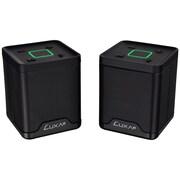 LUXA2 AD-SPK-PCGDBK-00 Groovy Duo Live Portable Bluetooth Speaker Set, Black