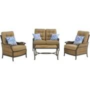 Hanover Outdoor Hudson Square Deep Seating Lounge Set, 4-Piece (HUDSONSQ4PC)