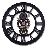 AdecoTrading Oversized 23.2'' Roman Numeral and Gear Detail Wall Hanging Clock