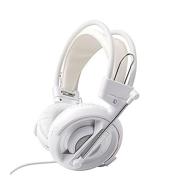 E-Blue - Casque d'écoute de jeu professionnel Cobra, blanc
