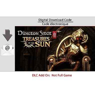 Logiciel de jeu Dungeon Siege III: Treasures of the Sun pour PC, anglais
