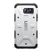 Urban Armor Gear® Hard Shell Case with HD Screen Protector for Galaxy S6, Navigator White (UAGGLXS6)