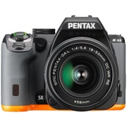Pentax KS2 Digital SLR Camera with 18  50 mm Lens, Black/Orange