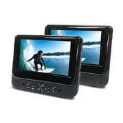 "Ematic ED717 7"" Dual Screen Portable DVD Player, Black"