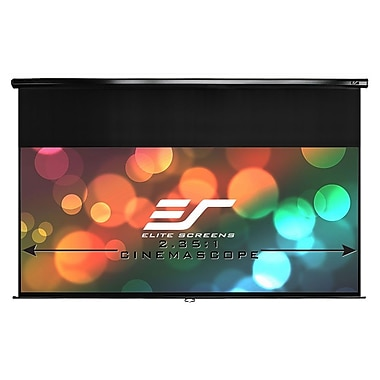 Elite Screens M119XWS1 Manual Series Projector Screen, 1:1