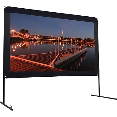 Elite Screens OMS123HR Yard Master Projector Screen, Rear Projection