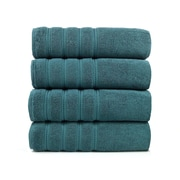 Makroteks Textile L.L.C. Salbakos Antalya Classic Luxury 4 Piece Towel Set (Set of 4); Colonial Blue