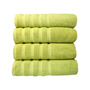 Makroteks Textile L.L.C. Salbakos Antalya Classic Luxury 4 Piece Towel Set (Set of 4); Green