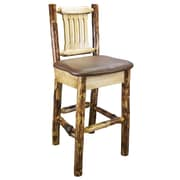 Montana Woodworks  Glacier Country 30'' Bar Stool with Cushion; Saddle