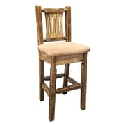 Montana Woodworks  Homestead 30'' Bar Stool with Cushion; Buckskin