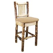 Montana Woodworks  Glacier Country 30'' Bar Stool; Buckskin