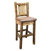 Montana Woodworks  Homestead 30'' Bar Stool with Cushion; Saddle