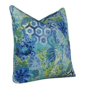 Tracy Porter Windflower Accent Cotton Throw Pillow; Sapphire
