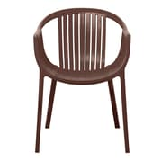 Gold Sparrow Rowan Stackable Arm Chair (Set of 2) (Set of 2); Brown