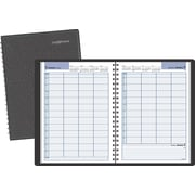 "DayMinder® 2017 Recycled Four-Person Group Daily Appointment Book, 11"" x 7-7/8"", Black, English"