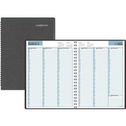 "DayMinder® 2017 Recycled Weekly Appointment Book, 11"" x 8"", Black, Bilingual"