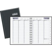 "DayMinder Premiere® 2017 Recycled Weekly Appointment Book, 11"" x 8"", Black, Bilingual"