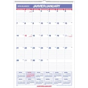 "AT-A-GLANCE® 2017 Monthly Recycled Wall Calendar, 12"" x 17"", Bilingual"