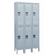 Hallowell MedSafe 2 Tier 3 Wide School Locker; 78'' H x 36'' W x 18'' D