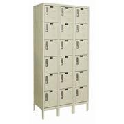Hallowell DigiTech 6 Tier 3 Wide Electronic Box Locker; 78'' H x 36'' W x 12'' D