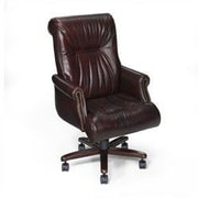 Seven Seas Seating Sabastian Leather Executive Chair; Castagna Brown