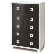 Sarmog Quadrante 6 Drawer Vertical File; Glossy Black