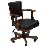 RAM Game Room Cushioned Game Table Arm Chair; Chestnut