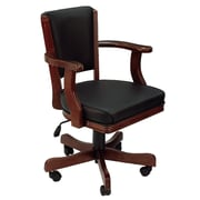 RAM Game Room Cushioned Game Table Arm Chair; English Tudor