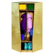 Childcraft 2-Section Corner Coat Locker