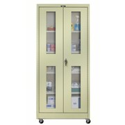 Hallowell 800 Series 48'' Mobile Storage Cabinet; Parchment