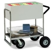 Charnstrom Medium Solid File Cart with Locking Top and Cushion Grip; Molded Rubber