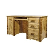 Montana Woodworks  Glacier Country 3 Drawers Computer Desk