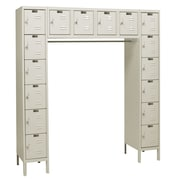 Hallowell Premium 6 Tier 16 Person Locker; Parchment