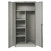 Hallowell 400 Series 1 Tier 1 Wide Storage Locker; Hallowell Gray