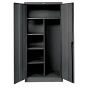 Hallowell 400 Series 1 Tier 1 Wide Storage Locker; Midnight Ebony