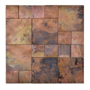 Legion Furniture Random Sized Metal Mosaic Tile in Brown