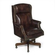 Seven Seas Seating Edison Leather Executive Chair; Empire Brown