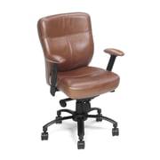 Hooker Furniture Leather Tilt Swivel Conference Chair; Brown Keats