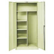 Hallowell 800 Series 1 Tier 1 Wide Storage Lockers; Parchment